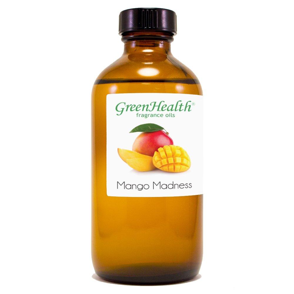 8 fl oz Mango Madness Fragrance Oil (Glass Bottle w/Cap) - GreenHealth