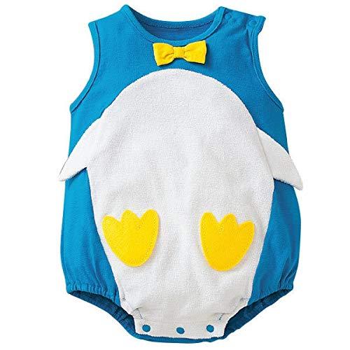 Baby Jumpsuit Romper cotton Cute penguin Bodysuit Infant Clothes Outfit Blue 18M