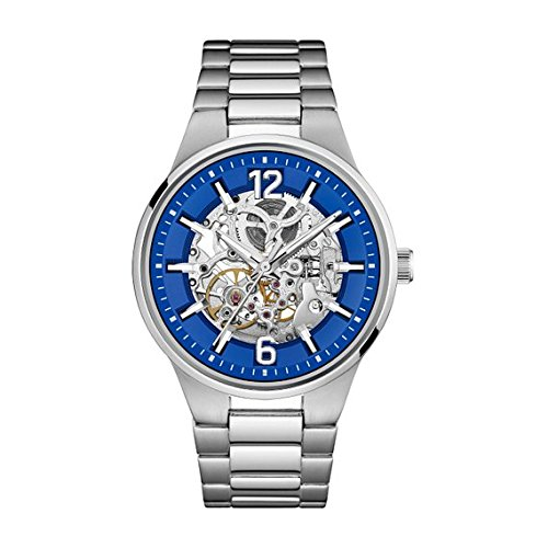 Caravelle New York Men's Automatic Stainless Steel Casual Watch, Color:Silver-Toned (Model: 43A135)