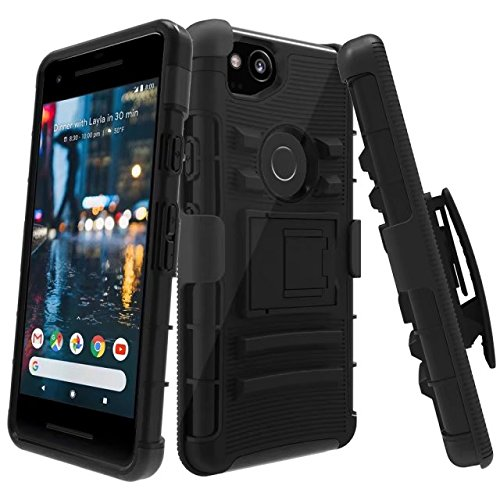 Google Pixel 2 Case, LK [Heavy Duty] Black Armor...