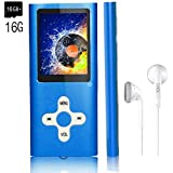 MP3 Player/Music Player,EVASA with a 16 GB Memory Card Portable Digital Music Player/Video/Voice Record/FM Radio/E-Book Reader,Ultra Slim 1.8''Screen