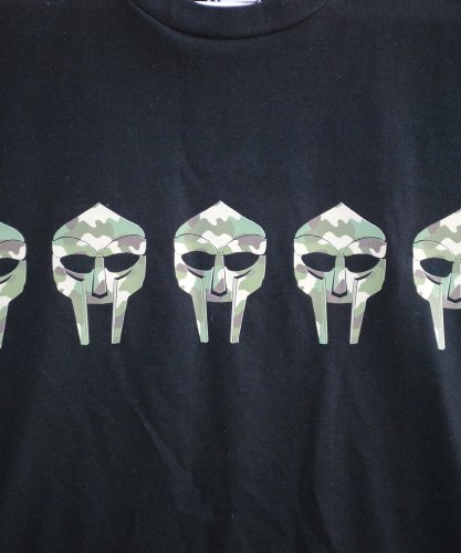 Actual Fact MF DOOM Tarnung Maske Herren Baumwolle Rap Hip Hop Premium Schwarz T-Shirt