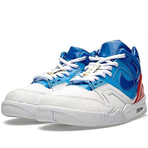 "Mens Air Tech Challenge Ii Sp ""Abierto de Estados Unidos"" blanco / azul de la universidad- WHITE/PRIZE BLUE-UNIVERSITY BLUE-GYM RED"