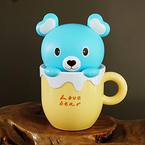 Creativo e simpatico cartone animato orso bunny tazze led carica