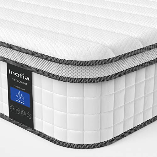 Twin XL Mattress, Inofia Responsive Memory Foam Mattress, Hybrid Innerspring Mattress in a Box, Sleep Cooler with More Pressure Relief & Support, CertiPUR-US Certified, 10 Inch, Twin XL (Memory Foam Mattress Twin Xl)