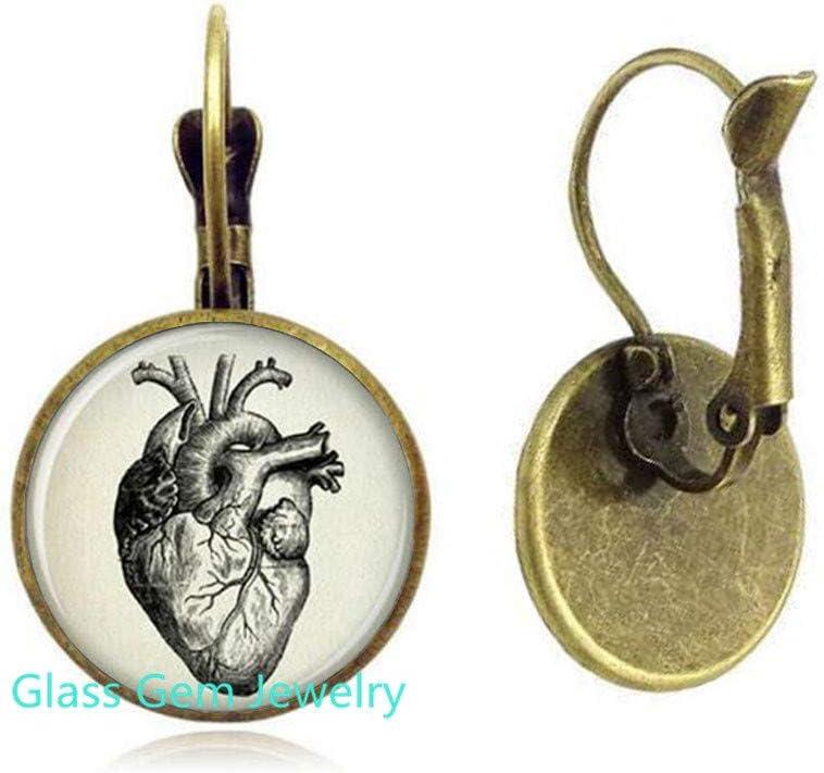 Anatomical Heart Dangle Earrings Anatomical Heart Earrings Anatomical Heart Jewelry,Q0132