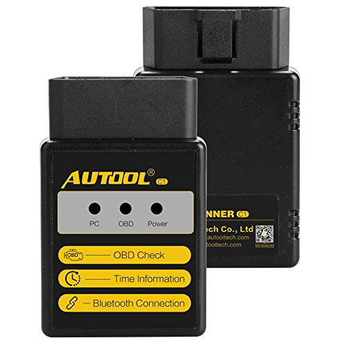 AUTOOL C1 ELM327 V1.5 OBD-II Auto System Diagnostic Tools C1 Bluetooth/WiFi OBD2 OBD II Auto Diagnostic Code Scanner (Bluetooth)