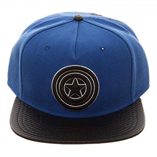 Marvel Captain America Carbon Fiber Snapback Baseball Hat