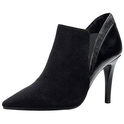 Leather And Velvet Pump - 4