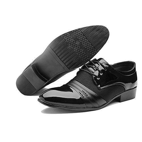 Breathable Leather Lined Perforated Dress Oxfords Shoes