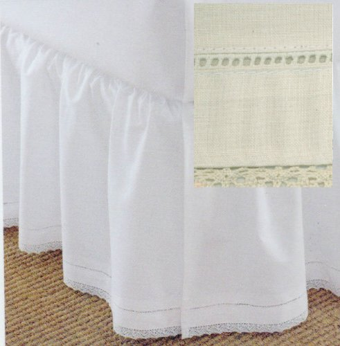 Cotton Crochet Twin Dustruffle Ivory