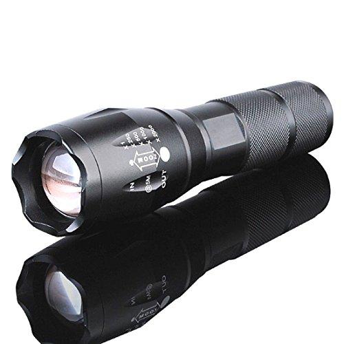 Flashlight 5000 lumens LED 18650/AAA Flashlight Zoomable Torch Focus Flashlight Lamp (Fire Vulcan Rechargeable Flashlight)