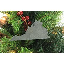 Custom Virginia Slate Christmas Ornament- Personalized with Laser Engraving