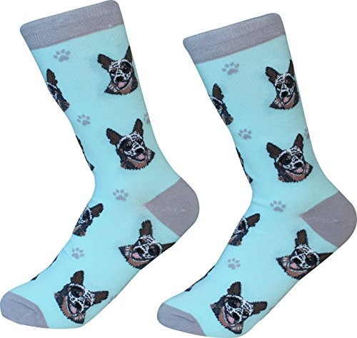 Australian Cattle Dog Socks-200 Needle Count - Cotton Soft and Comfortable One Size Fits Most