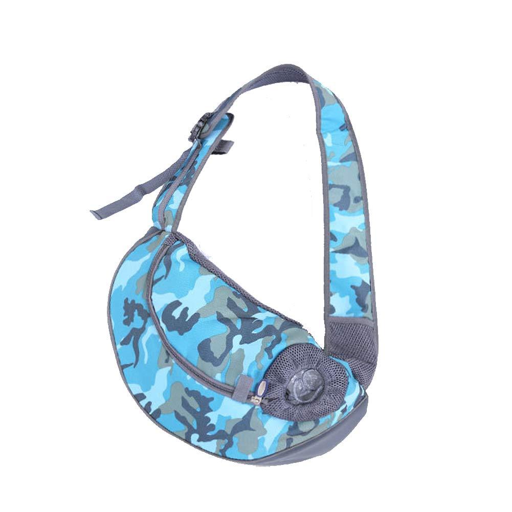 bluee Pet Carriers Dog Sling Bag Travel Portable Slung Shoulder Bag Breathable mesh