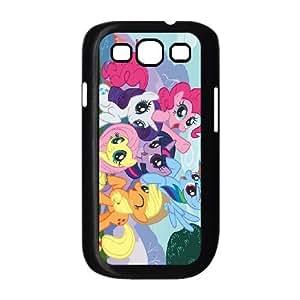 POTROS REGLA 3 MY LITTLE PONY F para funda Samsung Galaxy S3 9300 funda caja del teléfono celular cubrir negro
