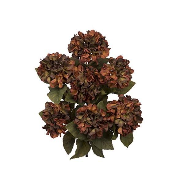 Artificial 20″ Hydrangea Bush – Set of 6 Bushes (Coffee)