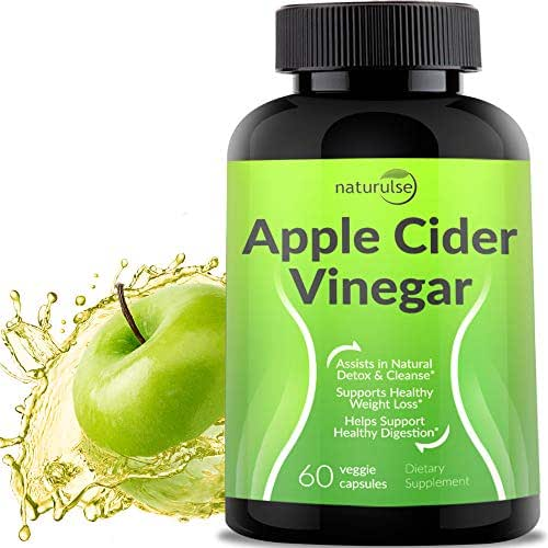 Apple Cider Vinegar Capsules 1300mg - Tasteless Natural Weight Loss Pills - Cleanse, Detox, Digestion Support Tablets - 100% Pure Vegetable ACV Capsules - Non-GMO & Gluten Free - Made in USA