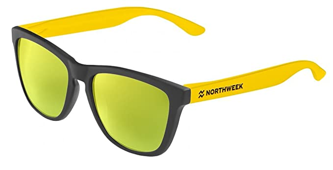 NORTHWEEK Gafas de sol CUSTOMIZE IT Matte Black - Matte yellow - lente gold Polarizada
