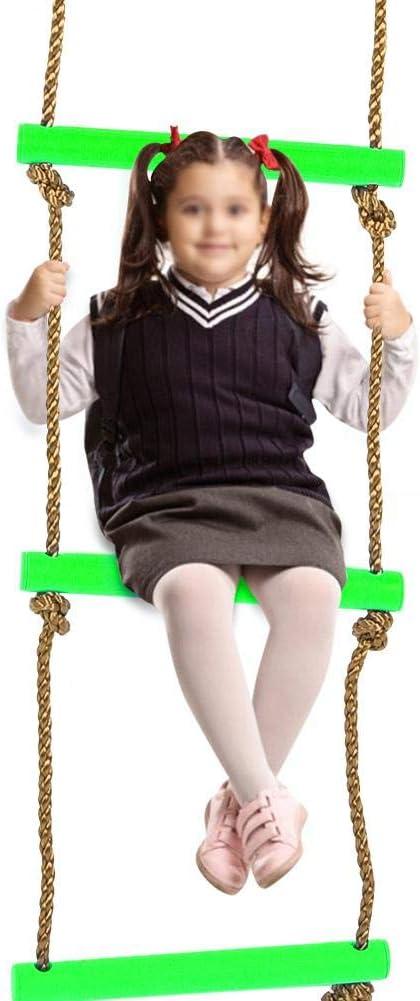 Alomejor Enfants /échelle descalade Enfants /échelle de Corde Jardin /échelle de Corde Cadre descalade id/éal pour lescalade Frame Tree House Dens et Play House