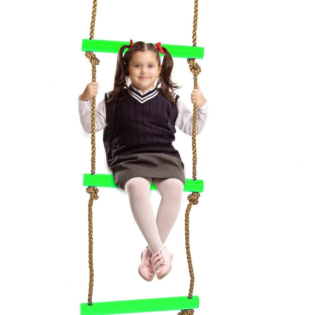 Caredy /Échelle descalade Terrain de Jeu descalade de Corde descalade en Nylon Jeu descalade pour Jeux de balan/çoires Accessoires Six Sections en Plastique pour Enfants Enfants
