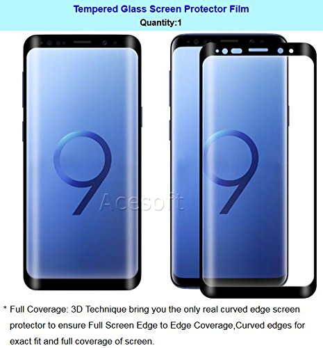 [3D Full Curved Edge] 9H Hardness Wear-Resisting Anti-Bubble Shockproof Tempered Glass Screen Protector Film for Samsung Galaxy S9 SM-G960U Cricket Android phone