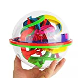 Kids Toys, Toamen 100 Barriers 3D Labyrinth Magic Intellect Ball Balance Maze Perplexus Puzzle Toy
