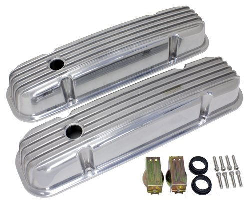 Engine Cover Finned (PONTIAC 325-455 POLISHED ALUMINUM VALVE COVERS - FINNED)