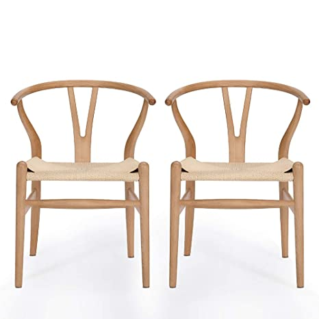 Magnificent Vodur Wishbone Chair Natural Solid Wood Dining Chair Hans Wegner Y Chair Rattan And Wood Accent Armrest Chair Beech Wood Chair Set Of 2 Beech Wood Ibusinesslaw Wood Chair Design Ideas Ibusinesslaworg