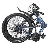 "Xspec 26"" 21-Speed Folding Mountain Bike for Adult"