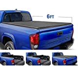 Tyger Auto T1 Roll Up Truck Bed Tonneau Cover TG-BC1T9045 works with 2016-2018 Toyota Tacoma   Fleetside 6' Bed   For models with or without the Deckrail System