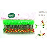 Toasis 100pcs Colorful Oval Rubber Fishing Float Bobber Stopper
