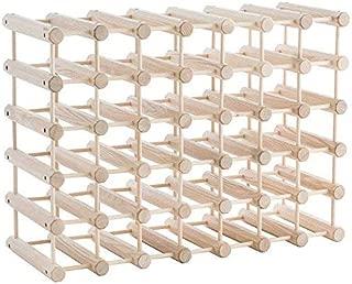 product image for J.K. Adams Ash Wood 40-Bottle Wine Rack, Natural