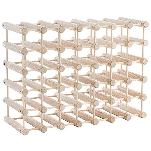 (J.K. Adams Ash Wood 40-Bottle Wine Rack, Natural)
