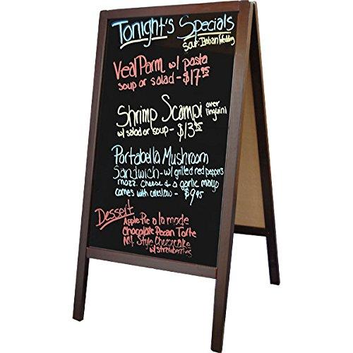 Sidewalk Frame Mahogany Sandwich Board product image