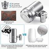 JONYJ Faucet Water Filter, 304 Stainless-Steel