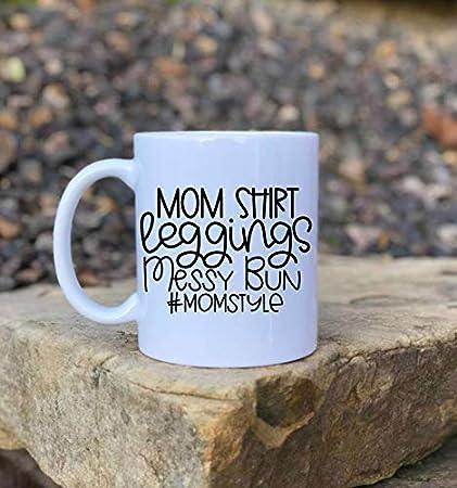 Taza divertida para mamá, taza de café, leggins y mom, regalo para el día de la madre para esposa, mejor amigo para ella, regalo de cumpleaños o Navidad