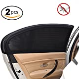 picture sun shade - Uarter Universal Car Side Window Baby Kid Pet Breathable Sun Shade Mesh Backseat (2 Pcs) Fits Most Small and Medium Cars