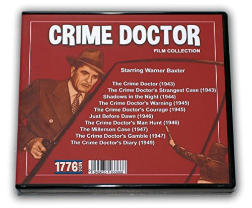 CRIME DOCTOR FILM COLLECTION - 5 DVD-R - 10 MOVIES - 1943-1949 with Warner Baxter