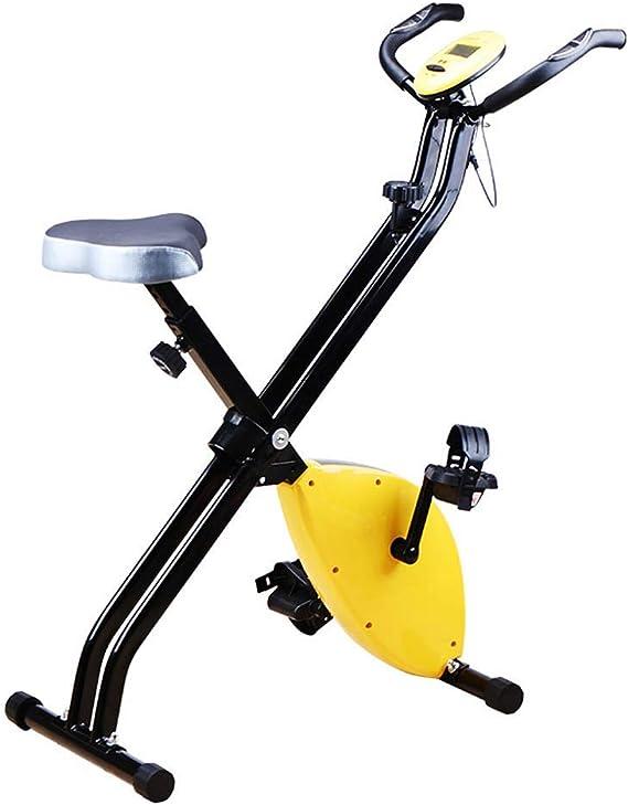 LWPCP Bicicleta estática Plegable Vertical, Resistencia magnética, para Bicicleta Cardiovascular con Pantalla LCD, Altura y Velocidad Ajustables: Amazon.es: Hogar