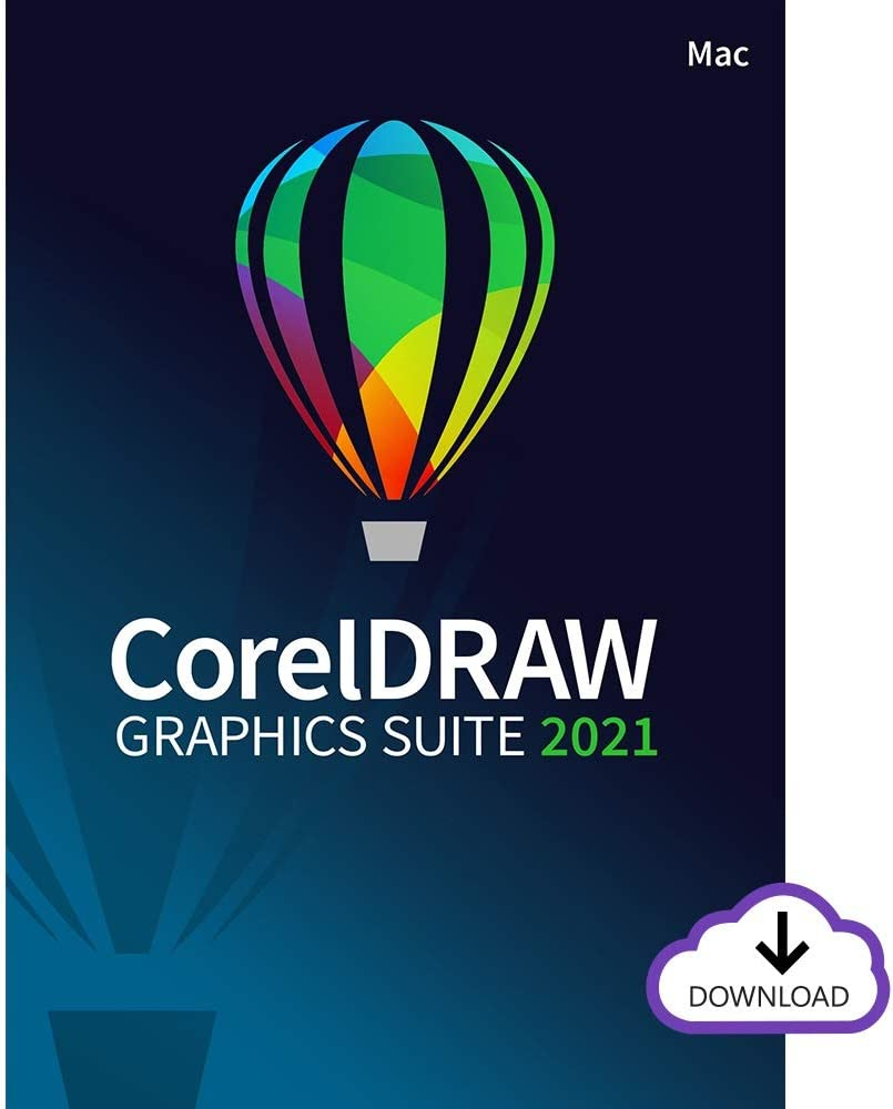CorelDRAW Graphics Suite 2021 | Graphic Design Software for Professionals | Vector Illustration, Layout, and Image Editing [Mac Download]