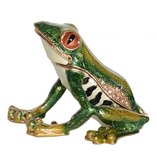 - Frog Bejeweled Trinket Box Metal Alloy Ring Holder Keepsake Box