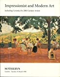 "Impressionist and Modern Art, Including Ceramics by 20th Century Artists, London, Tuesday 24 March 1998 (Sale LN8136 ""PATRICK""). Paperback auction catalogue published by Sotheby's, London."