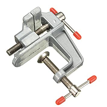 Rosa Lagarto miniatura pequeña abrazadera de aluminio de mesa ...