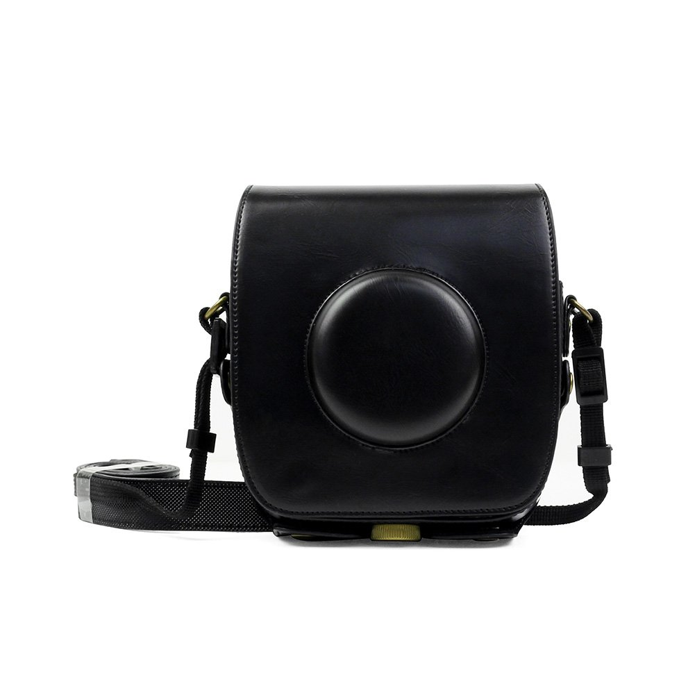 ParacityRetro Pu Leather Camera Case For Fujifilm Instax Square Sq10 Hybrid Instant With Adjustable Shoulder Strap (Black) by Amazon