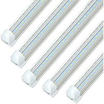 8 Ft Led Industrial Retail Flush Mount 4 Light T8 Fixture