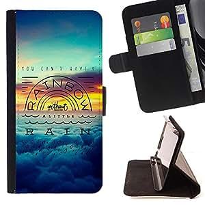 King Art - Premium-PU-Leder-Prima caja de la PU billetera de cuero con ranuras para tarjetas, efectivo Compartimiento desmontable y correa para la mu?eca FOR Sony Xperia Z3 D6653- Rainbow