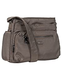 Lug Shimmy Cross-Body Bag, Brushed Walnut, One Size (Model:4922)