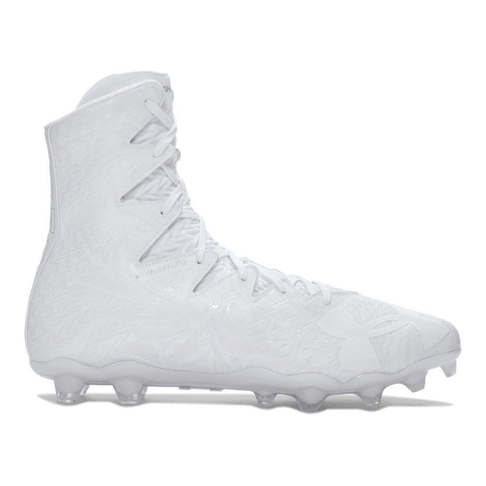 Under Armour Men's Highlight MC Football Cleat, White/White, 8 M US