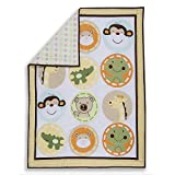 Dream On Me Animal Kingdom 5Pc Reversible Portable Crib Set, Pastel